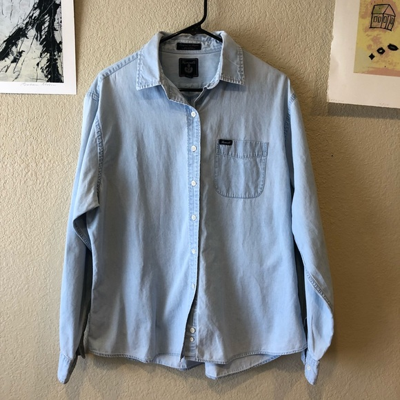 8f20e9623a87b9 Faconnable Shirts   Mens Xl Facconnable Chambray Shirt   Poshmark